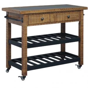 Marlijo Warm Brown Dining Room Serving Cart/Pub Counter