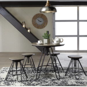 Sonilyn Gray/Black 5 Piece Dining Room Counter Table Set
