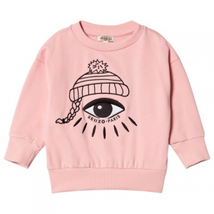 Kenzo Kids 핑크 아이 프린트 로고 셔츠