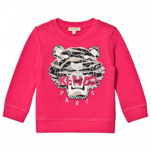 Kenzo Kids Pink Tiger Embroidered 스웨트 셔츠