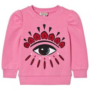 Kenzo Kids Pink Eye Back and Front Print 스웨트 셔츠
