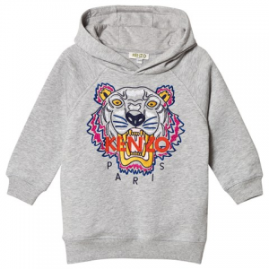 Kenzo Kids Grey Tiger Embroidered Hoodie 드레스