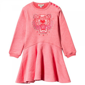 Kenzo Kids Pink Marl Embroidered Tiger 스케이터 드레서