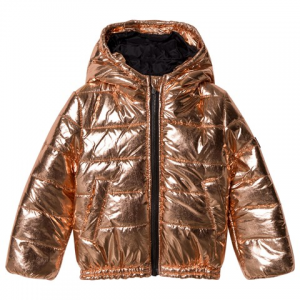 Kenzo Kids Rose Gold Padded Hooded Puffer 코트