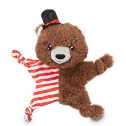 Jubilee Blissful Bear Plush Flattie Crinkle Dog Toy, Small