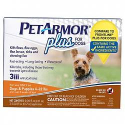 PetArmor Plus Flea & Tick Squeeze-On Dog 4-22 lbs, Count of 3