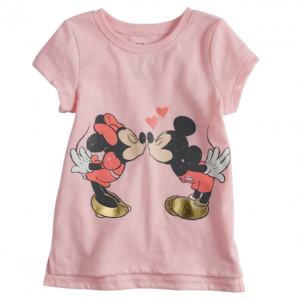 99fd62153 Disney's Mickey & Minnie Mouse Baby Girl Kissing Tee by Jumping Beans®