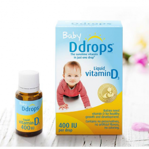 Lower!Ddrops Baby 400 IU, Vitamin D, 90 drops 2.5mL @ Amazon