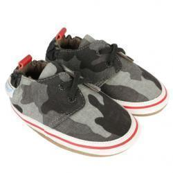Cool & Casual Camo 아기 신발, 소프트 발바닥