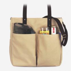[모노노] MONONO - Super Oxford 6 Pocket 3 Way Bag - Ivory Brown 캔버스 숄더백 토트백