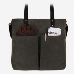 [모노노] MONONO - 6 Pocket 3 Way Bag Wax Canvas Charcoal 캔버스 숄더백 토트백