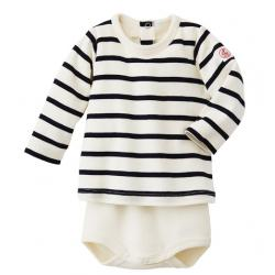 Petit Bateau BABY STRIPED LONG SLEEVE T-SHIRT BODYSUIT