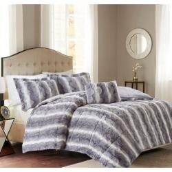 Zuri Faux Fur Comforter Set