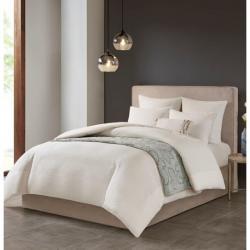Hanae Cotton Blend Yarn Dyed 3 Piece Comforter Set