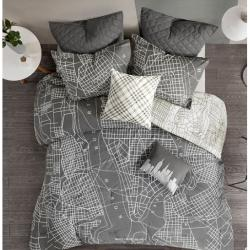 Manhattan Reversible 7-Piece Printed Cotton Comforter Set