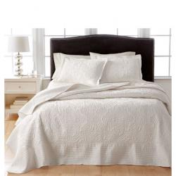 Martha Stewart Collection CLOSEOUT! Lush Embroidery Twin Bedspread, Created for Macy's