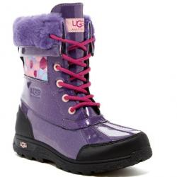 UGG Butte II Waterproof Genuine Shearling Lined Leather Boot (Little Kid & Big Kid)