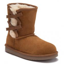 KOOLABURRA BY UGG Victoria Faux Fur Lined Suede Short Boot (Little Kid & Big Kid)