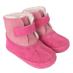 Robeez Galway Cozy Boots Pink Soft Soles