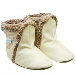 Robeez Classic Boots, Cream Soft Soles