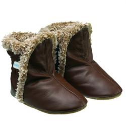 Robeez Classic Boots Brown Soft Soles