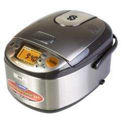 """ZOJIRUSHI Induction Heating System Rice Cooker Warmer 3 Cup Stainless Dark Brown NP-GBC05 9.12"""" x"""