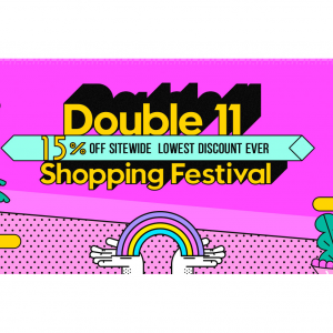 Double 11 Shopping Festival: 15% off sitewide lowest discount ever