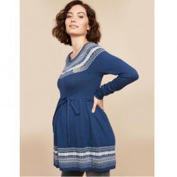 Motherhood Fair Isle Babydoll Maternity Sweater