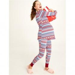 Motherhood Pull Down Henley Nursing Pajama Set