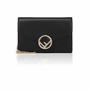 FENDI Leather Chain Wallet
