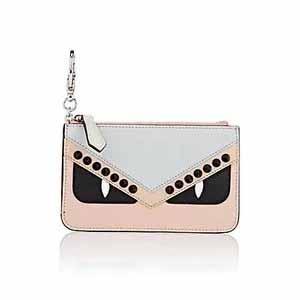 FENDI Bag Bugs Leather Key Pouch