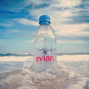 $13.68 evian Natural Spring Water One Case of 12 Individual 1 Liter @ Amazon.com