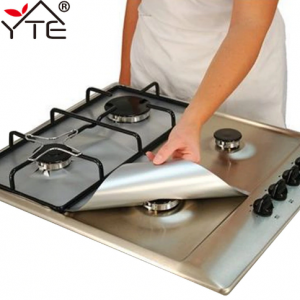 YTE Gas Stove Protectors 1pc Reusable Gas Stove Burner Cover Liner Mat Fire Injuries Protection
