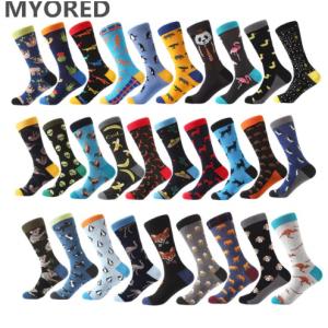MYORED new Mens socks Women animal alien chili Moustache sloths Novelty Sock combed cotton funny S