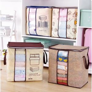2018 new Non-woven Portable Clothes Storage Bag Organizer 45.5*51*29cm Folding Closet Organizer