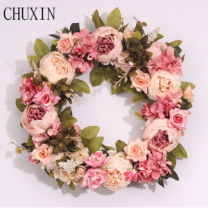 Silk Peony Artificial Flowers Wreaths Door Perfect Quality Artificial Garland