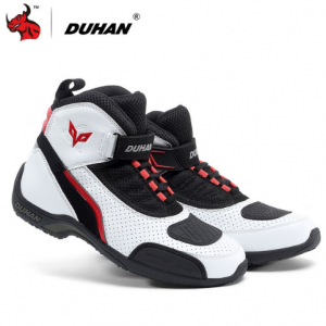 DUHAN Motorcycle Boots Summer Mesh Men Motorcycle Shoes