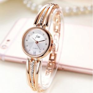 New Fashion Rhinestone Watches Women Luxury Brand Stainless Steel Bracelet watches