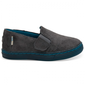 Shade Shaggy Suede Water Resistant Tiny TOMS Luca Slip-Ons