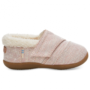 Rose Cloud Glimmer Tiny TOMS House Slippers
