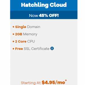 Hatchling Cloud from $4.95