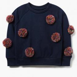 Gymboree Confetti Pom-Pom Sweatshirt