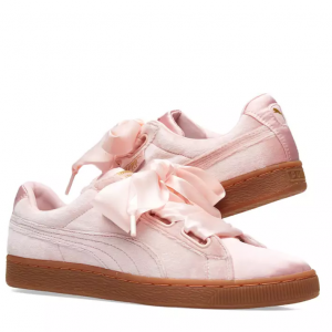 Puma Basket Heart Velour & Satin W
