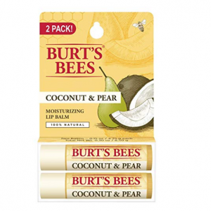 Burt's Bees 100% Natural Moisturizing Lip Balm, Coconut & Pear with Beeswax & Fruit Extracts - 2 T