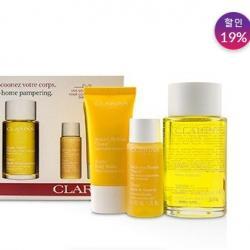 클라란스 CLARINS At-Home Pampering Body Kit: 1x Tonic Body Treatment Oil, 1x Bath & Shower Concentrate