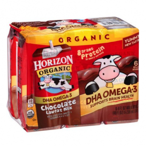 Horizon Organic DHA Chocolate Lowfat Milk, 8 fl oz, 6 Ct