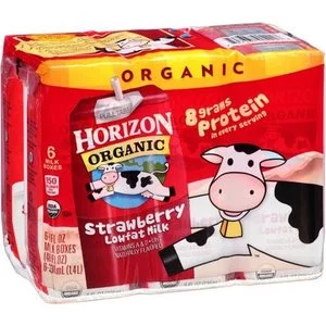 Horizon Organic Strawberry Organic Lowfat Milk, 8 fl oz, 6 Ct