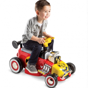 Disney Mickey Boys' 6V Red Battery-Powered Ride-On Quad Toy by Huffy
