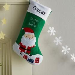 My 1st Years Personalized Green Letter To Santa Stocking