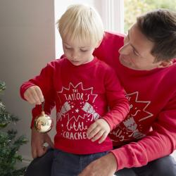My 1st Years Personalized Kids Crackers Christmas Long Sleeve T-Shirt